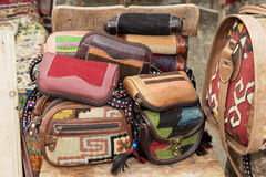 Hand made handbags Stock Images