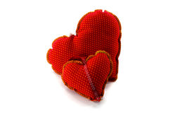 Hand made hart shape Royalty Free Stock Photos