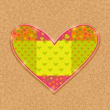 Hand Made Heart Stitch Stock Photo