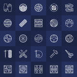 Hand-made icons set Stock Image