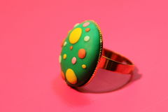 Hand made jewelry ring Royalty Free Stock Images