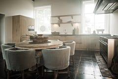 Hand made kitchen Stock Photo