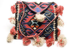 Hand made knitted turkish kilim handbag pattern h Royalty Free Stock Images