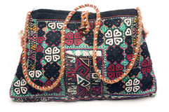 Hand made knitted turkish kilim handbag pattern h Stock Photo