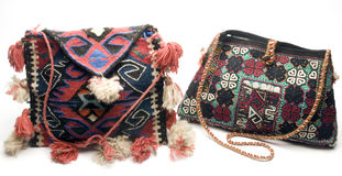 Hand made knitted turkish kilim handbag pattern h Royalty Free Stock Photography