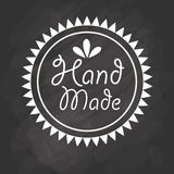 Hand Made label, handmade crafts workshop. Vector illustration Royalty Free Stock Image