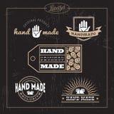 Hand made label set Stock Photos