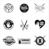 Hand made labels, badges and design elements in vintage style. Royalty Free Stock Image