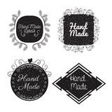 Hand made labels monochrome icon Stock Photography