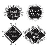 Hand made labels monochrome icon Royalty Free Stock Photography