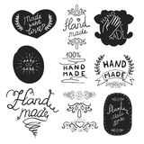 Hand made labels template. Royalty Free Stock Photo