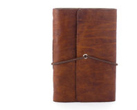 Hand made leather notebook Stock Image