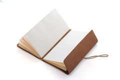 Hand made leather notebook Royalty Free Stock Photos