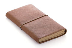 Hand made leather notebook Stock Images