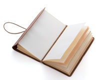 Hand made leather notebook Royalty Free Stock Photography