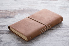 Hand made leather notebook Royalty Free Stock Image