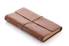 Hand made leather notebook Royalty Free Stock Images