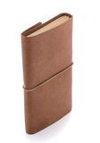 Hand made leather notebook Stock Photos