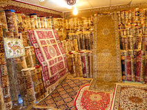 Hand Made Luxury Carpets. On Display Hand Made Luxury Carpets Royalty Free Stock Photos