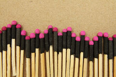 Hand Made Matchstick with Fire Crackers Royalty Free Stock Image