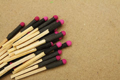 Hand Made Matchstick with Fire Crackers Royalty Free Stock Images
