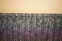 hand made melange wool knitted fabric Stock Image