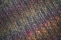 Hand made melange wool knitted fabric Stock Photo