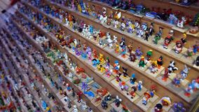 Hand made miniature figurines royalty free stock images