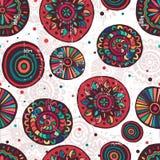 Hand made motley mandalas seamless pattern Royalty Free Stock Photos