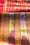 Hand made native skirt for woman in thailand native thai cloth. Fabric thai pattern background Stock Photos
