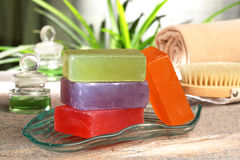 Hand-made natural soaps Stock Image