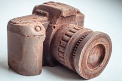 Hand made noname nobrand chocolate camera Royalty Free Stock Photos