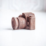 Hand made noname nobrand chocolate camera Stock Photography