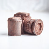 Hand made noname nobrand chocolate camera Royalty Free Stock Photography