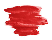 Hand made oil paint brush stroke Stock Photography