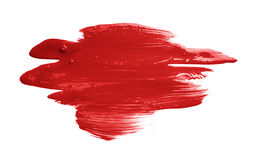 Hand made oil paint brush stroke. Isolated over the white background as a design element of a backdrop Stock Photos