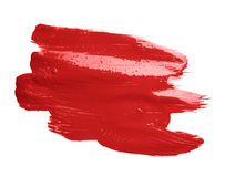 Hand made oil paint brush stroke Royalty Free Stock Photos