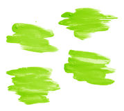 Hand made oil paint brush stroke Stock Photo