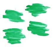 Hand made oil paint brush stroke Stock Images