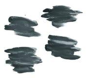 Hand made oil paint brush stroke Stock Image