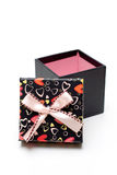 Hand-made opened black gift box Royalty Free Stock Image