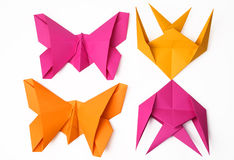 Hand made origami birds Stock Image