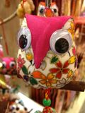 Hand made owls Stock Images