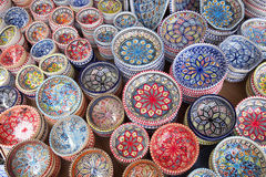 Hand made and painted bowls Royalty Free Stock Photography