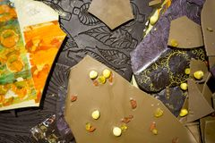 Hand made and painted chocolate royalty free stock photo