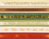 Hand made paper collection. With ribbons Stock Images