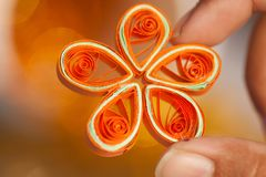 Hand made paper flower Royalty Free Stock Images