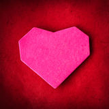 Hand made paper heart on kraft paper Royalty Free Stock Image