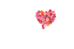 Hand made of paper quilling technique. Valentine's day. Royalty Free Stock Photos