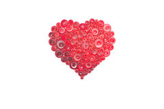 Hand made of paper quilling technique. Valentine's day. Royalty Free Stock Images